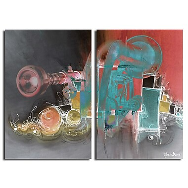 Ready2hangart The Color of Jazz XIII' 2 Piece Graphic Art on Canvas Set