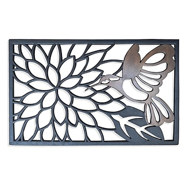 August Grove Eleanora Hummingbird Doormat