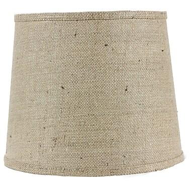 AHS Lighting 16'' Linen Drum Lamp Shade; Natural