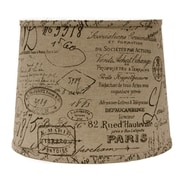 AHS Lighting French Script 16'' Linen Drum Lamp Shade