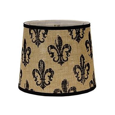 AHS Lighting Fleur De Lis Burlap 5'' Linen Empire Candelabra Shade