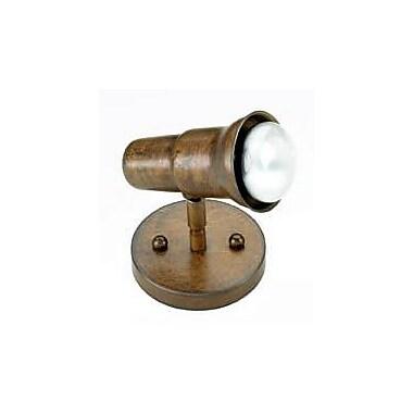 Lustrarte Lighting Rustik 1-Light Spot Light; Antique Brass Mat