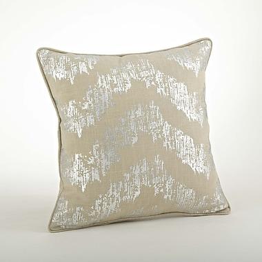 Saro Lydia Metallic Chevron Cotton Throw Pillow