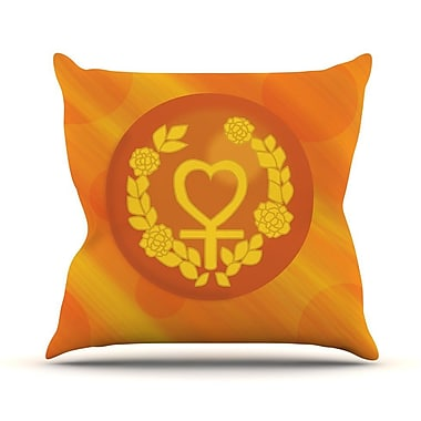 KESS InHouse Venus Throw Pillow; 16'' H x 16'' W