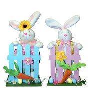 PennDistributing 2 Piece Fabric Bunny Set