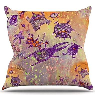 KESS InHouse Levitating Monsters Throw Pillow; 26'' H x 26'' W