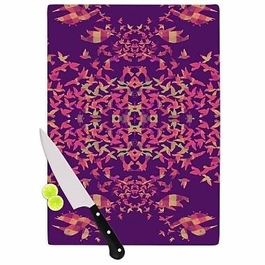 KESS InHouse Flying Birds Sunset Cutting Board; 11.5'' W x 8.25'' D