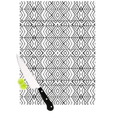 KESS InHouse Tribal Expression Cutting Board; 11.5'' H x 15.75'' W