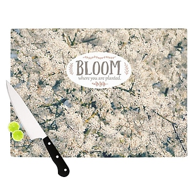 KESS InHouse Bloom Where You Are Planted Cutting Board; 15.75'' W x 11.5'' D