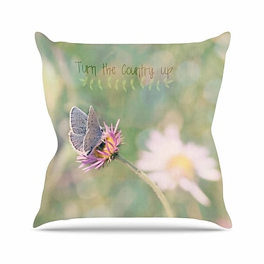 KESS InHouse Turn The Country Up Throw Pillow; 18'' H x 18'' W