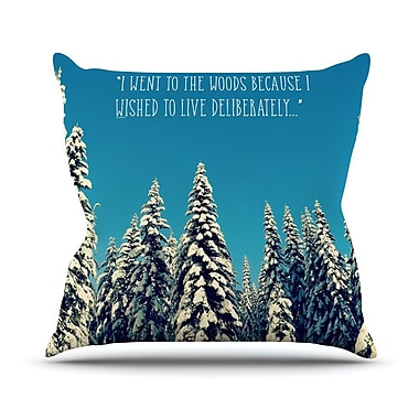 KESS InHouse I Went to the Woods Throw Pillow; 16'' H x 16'' W