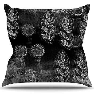 KESS InHouse Grey Dream Throw Pillow; 16'' H x 16'' W