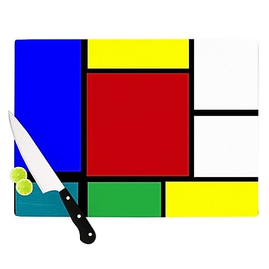 KESS InHouse Mondrian and Me Cutting Board; 8.25'' H x 11.5'' W