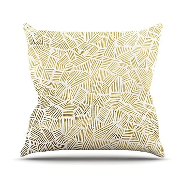 KESS InHouse Inca Gold Trail Throw Pillow; 16'' H x 16'' W