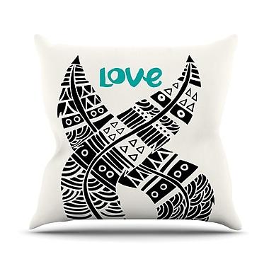 KESS InHouse United Love Throw Pillow; 18'' H x 18'' W