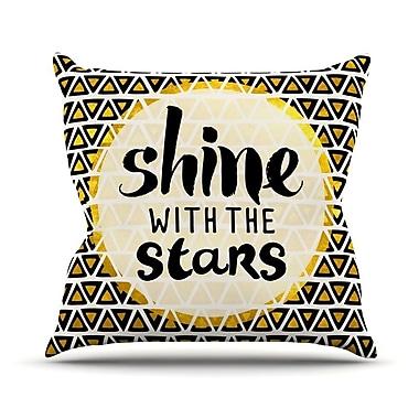 KESS InHouse Shine w/ the Stars Throw Pillow; 16'' H x 16'' W