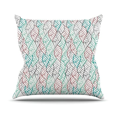 KESS InHouse Ethnic Leaves Throw Pillow; 16'' H x 16'' W