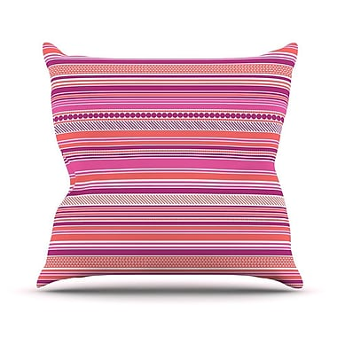 KESS InHouse Pink Ribbons Throw Pillow; 26'' H x 26'' W