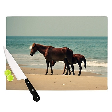 KESS InHouse Sandy Toes Cutting Board; 11.5'' W x 8.25'' D