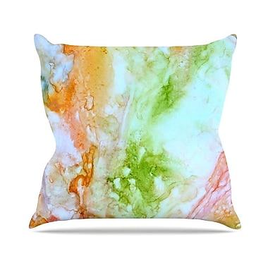 KESS InHouse November Rain Throw Pillow; 16'' H x 16'' W