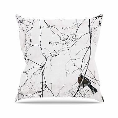 KESS InHouse Vintage Bird At Dusk Throw Pillow; 16'' H x 16'' W