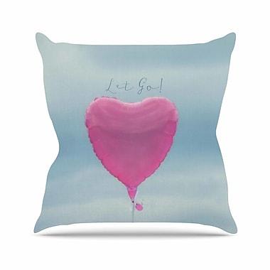 KESS InHouse Let Go! Throw Pillow; 16'' H x 16'' W