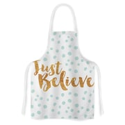KESS InHouse Just Believe Fabric Artistic Apron