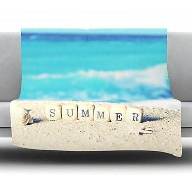 KESS InHouse Summer at the Beach Fleece Throw Blanket; 60'' L x 50'' W