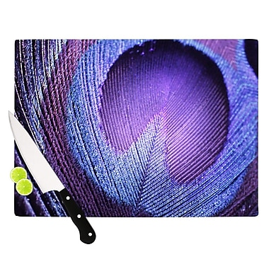 KESS InHouse Purple Peacock Cutting Board; 11.5'' W x 8.25'' D