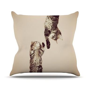 KESS InHouse Upside Down Throw Pillow; 18'' H x 18'' W