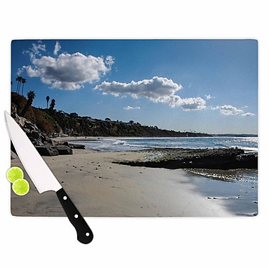 KESS InHouse Clouds Over Swamis Beach Cutting Board; 11.5'' W x 8.25'' D