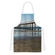 KESS InHouse Scripps Beach Pier Fabric Artistic Apron