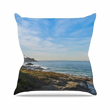 KESS InHouse Blue Sky Over The Ocean Throw Pillow; 18'' H x 18'' W