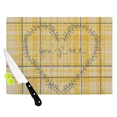 KESS InHouse You And Me Cutting Board; 15.75'' W x 11.5'' D