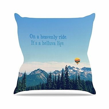 KESS InHouse It's a Helluva Life Throw Pillow; 16'' H x 16'' W