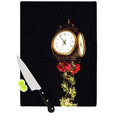KESS InHouse Xmas Clock Seasonal Cutting Board; 15.75'' W x 11.5'' D