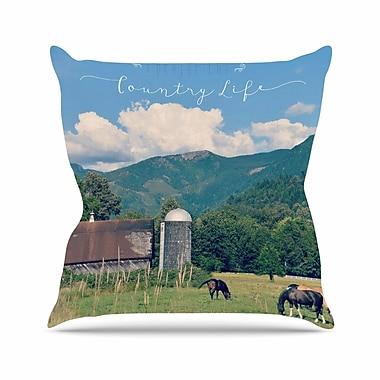 KESS InHouse Country Life Throw Pillow; 18'' H x 18'' W