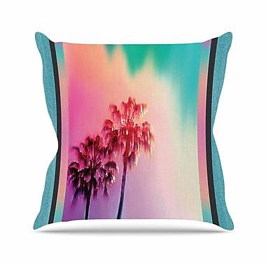 KESS InHouse LA Rainbow Throw Pillow; 26'' H x 26'' W