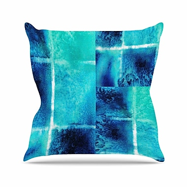 KESS InHouse Saltwater Study Throw Pillow; 16'' H x 16'' W