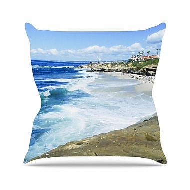 KESS InHouse Beach Playground Throw Pillow; 18'' H x 18'' W
