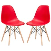 Edgemod Side Chair (Set of 2); Red