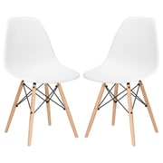 Edgemod Side Chair (Set of 2); White