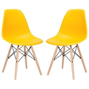 Edgemod Side Chair (Set of 2); Yellow