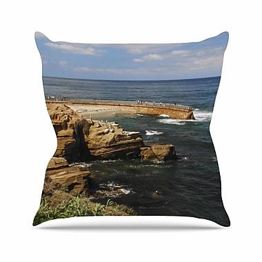 KESS InHouse Ocean Jetty Throw Pillow; 26'' H x 26'' W