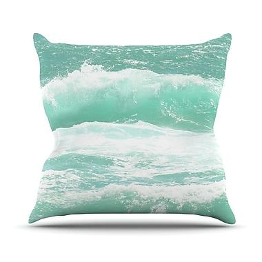 KESS InHouse Maui Waves Throw Pillow; 16'' H x 16'' W