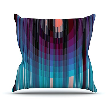 KESS InHouse Nova Sun Throw Pillow; 18'' H x 18'' W