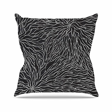 KESS InHouse Garden Illusion Throw Pillow; 18'' H x 18'' W