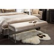 Wholesale Interiors Baxton Studio Hildon Upholstered Bedroom Bench; Beige