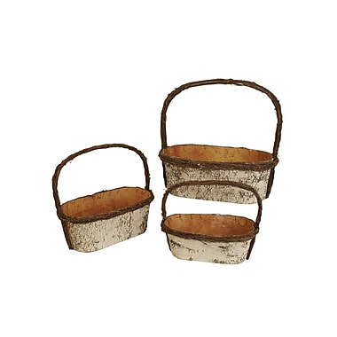 WaldImports 3 Piece Birch Basket Set