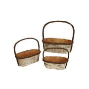 WaldImports 3 Piece Birch Basket Set